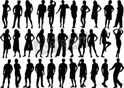 Human Figure Silhouette Vector