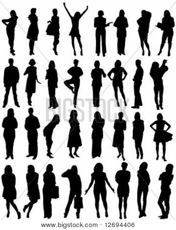 Human Silhouette Shapes