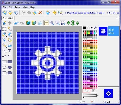 Icon Editor for Windows 7