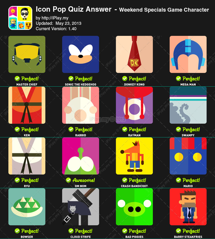 Icon Pop Quiz Characters Answers