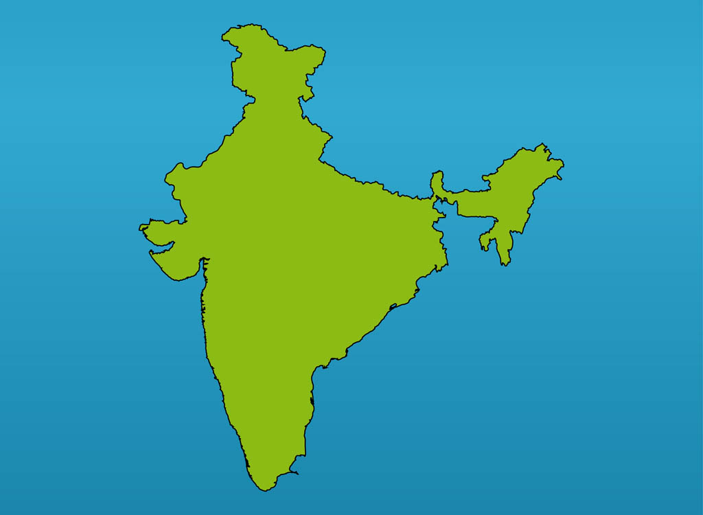 9 India Map Vector Images - India Map with Cities, Download
