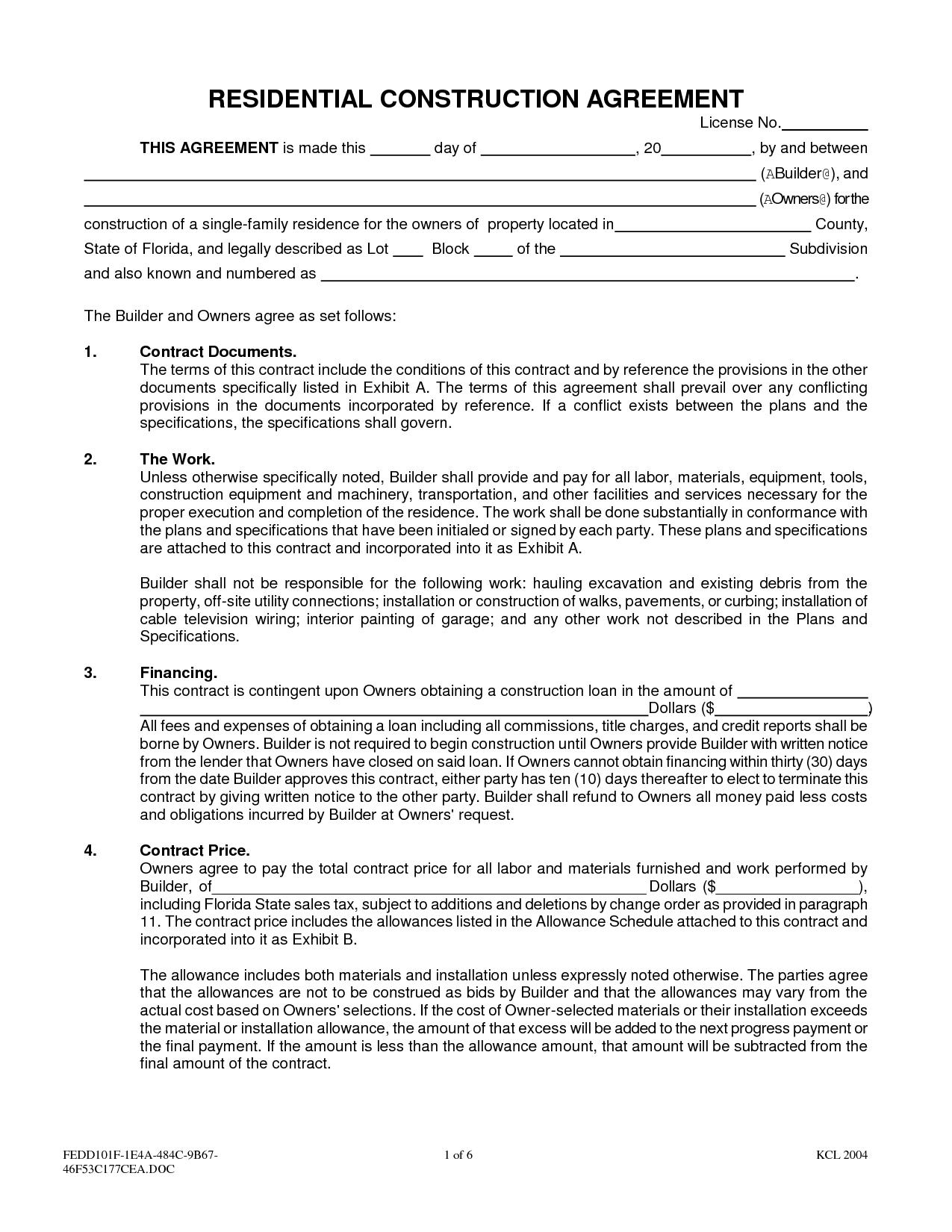 interior design contract agreement