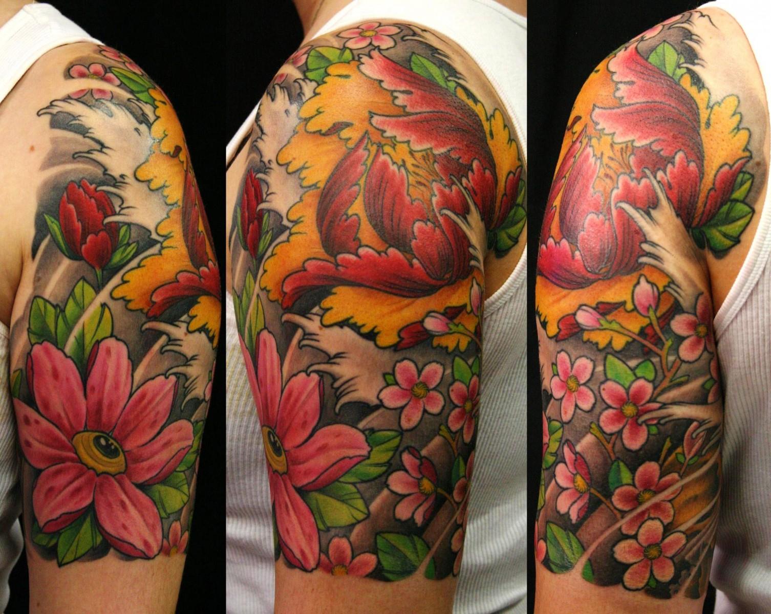 18 Japanese Flower Designs Images Japanese Flower Tattoo Designs