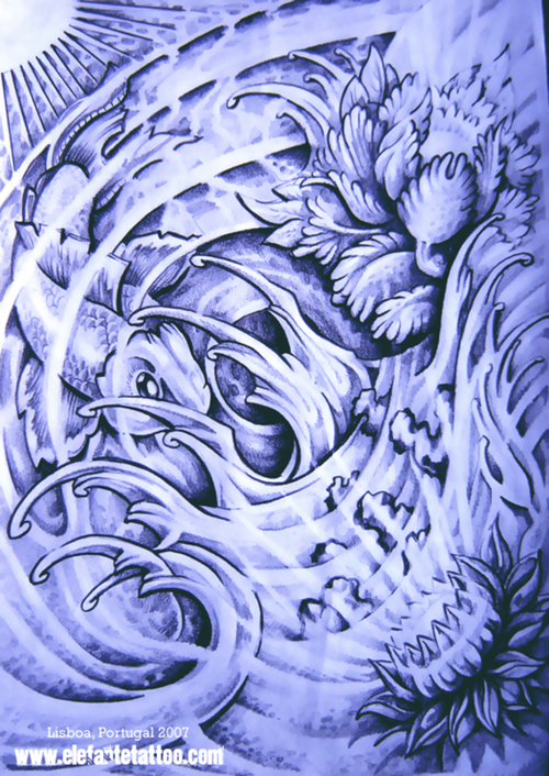 18 Japanese Flower Designs Images - Japanese Flower Tattoo ...