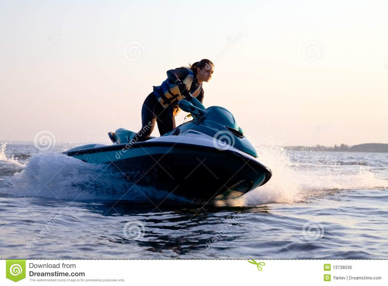7 PSD Girls On Jet Ski Images