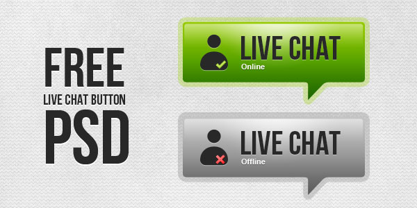 11 Live Chat Button Icons Images