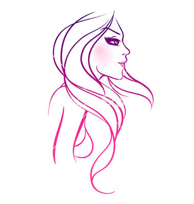 Graphics For Hair Vector Graphics Wwwgraphicsbuzzcom - Girl hairstyle vector free download