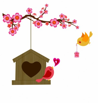 15 Love Birds Vector Images