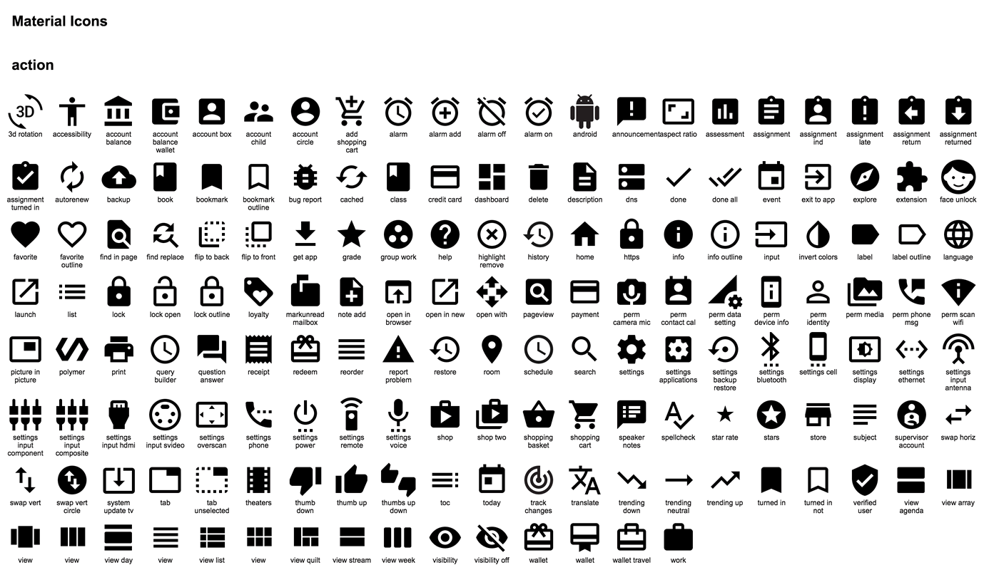 Material Design Android Icons