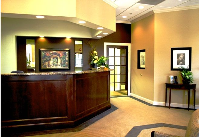 16 physician office design images medical dental office for Front office interior design ideas