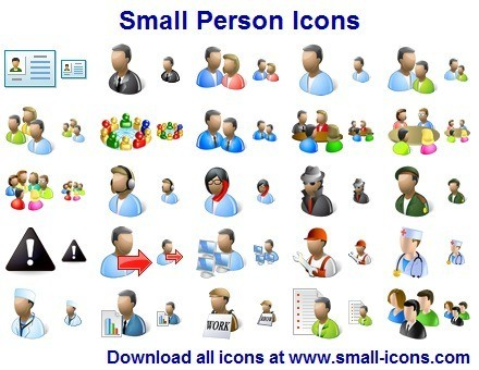 16 Small People Icon Images