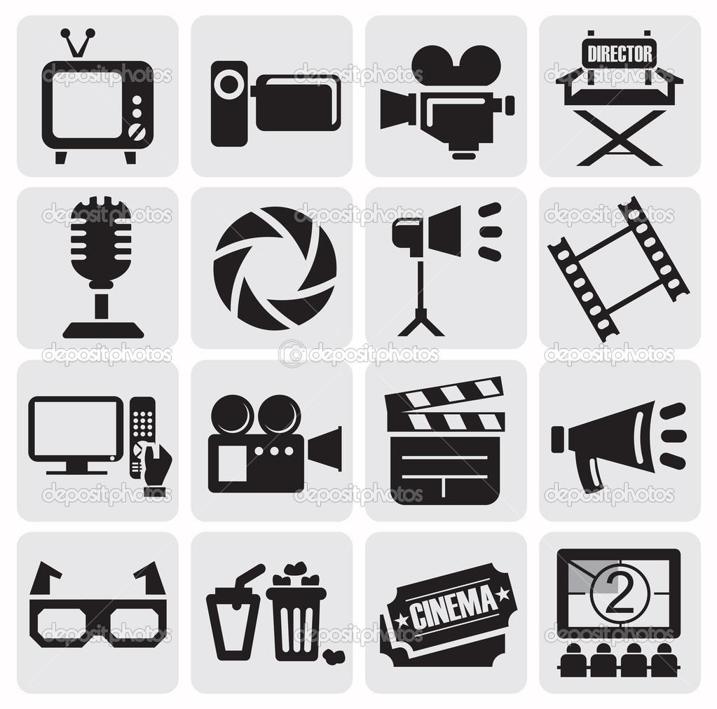 Movie Icon Black and White