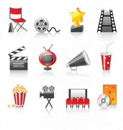 10 Movie Icon Vector Images