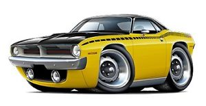 10 Muscle Car Cartoon Icons Images