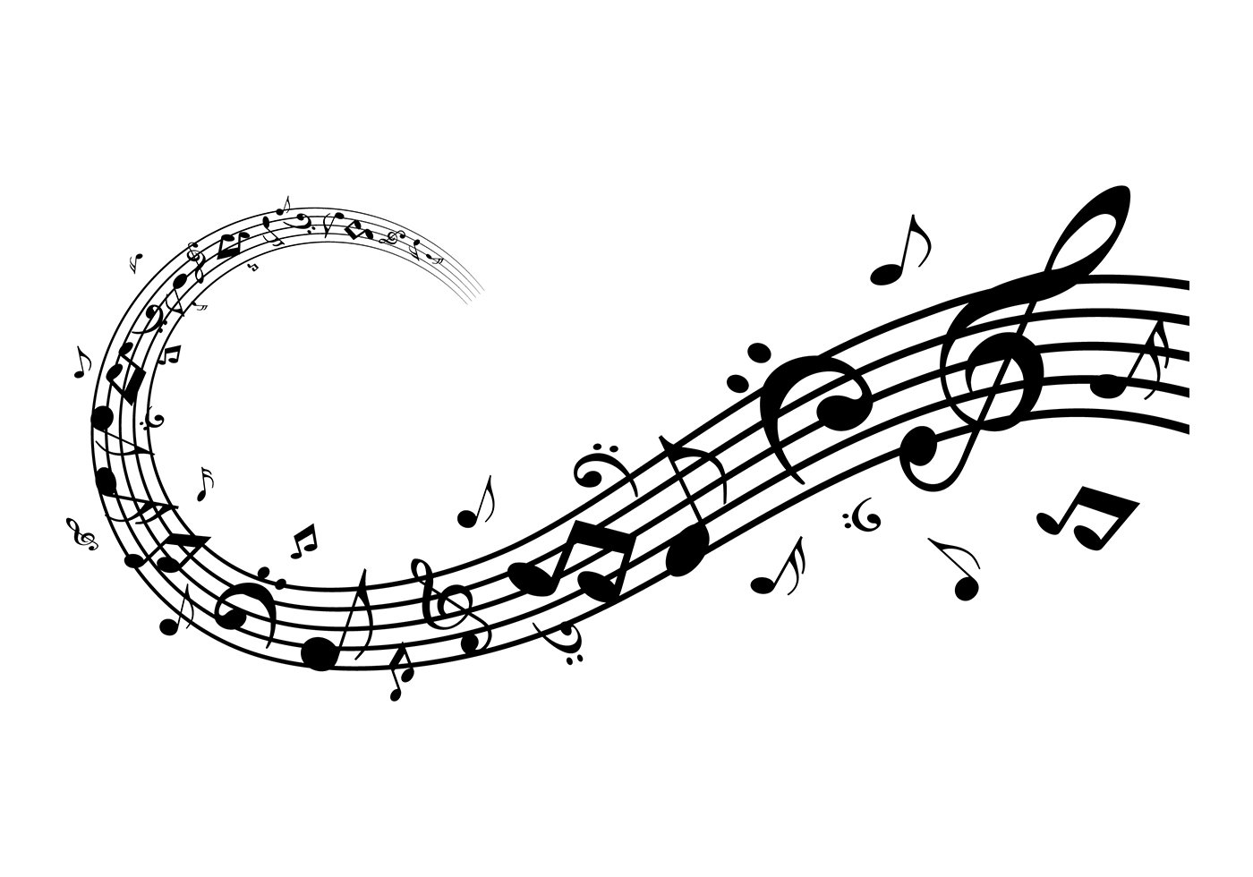 17 Musical Notes Vector Images
