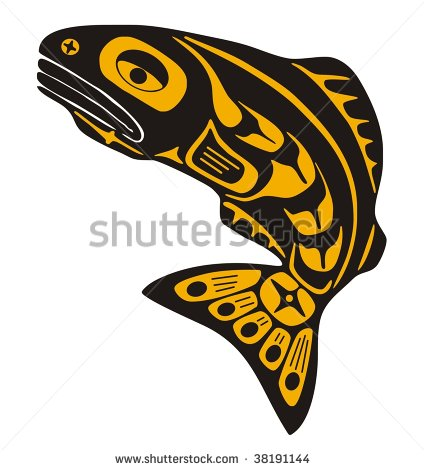 Native American Tribal Art Fish