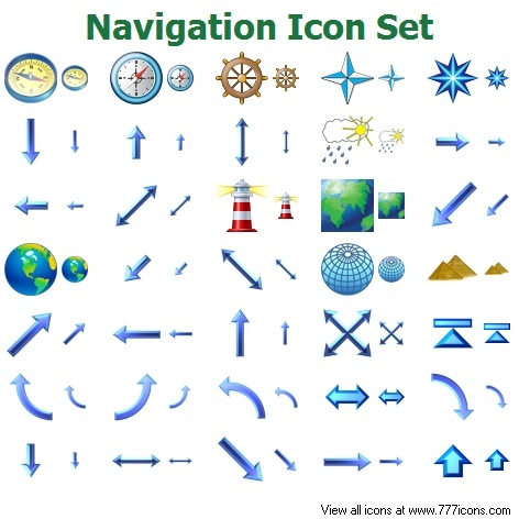 10 Navigation Icons 24X24 Images