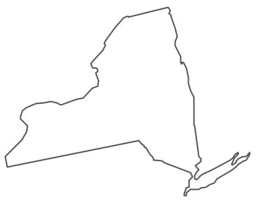 16 New York State Map Vector Images