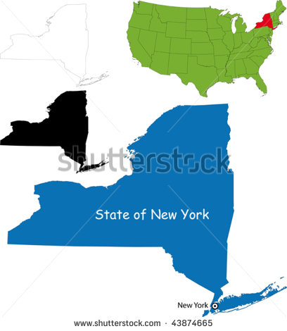 16 New York State Map Vector Images  New York State Map