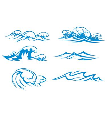 10 Ocean Wave Vector Images