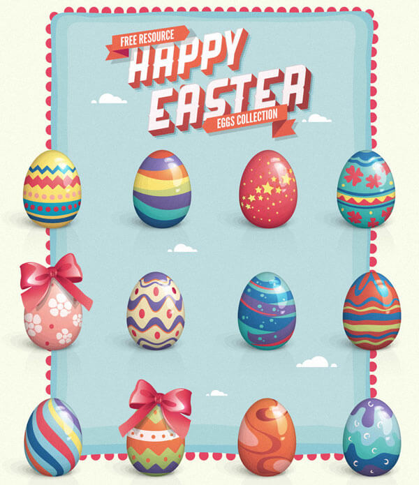 Painted Easter Eggs Clip Art Free