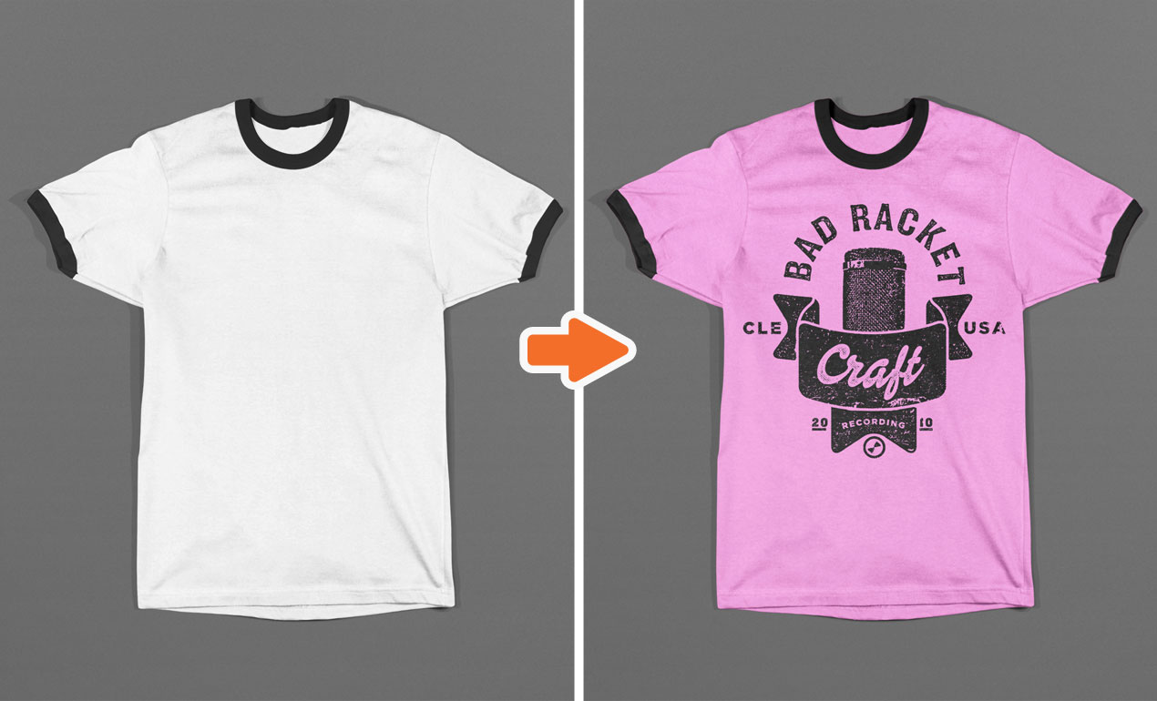 Photoshop T-Shirt Template Mockup