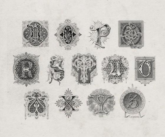 9 ornate victorian font images
