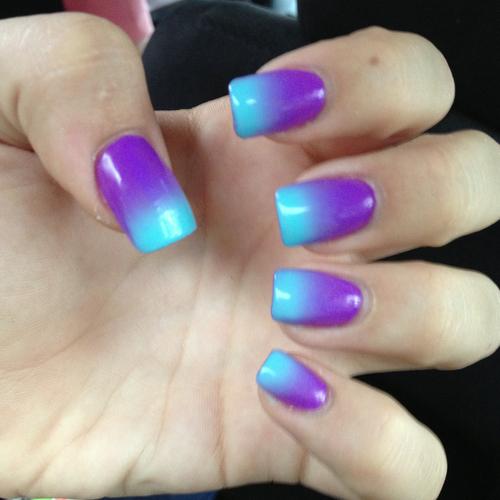 Purple Ombre Nail Art