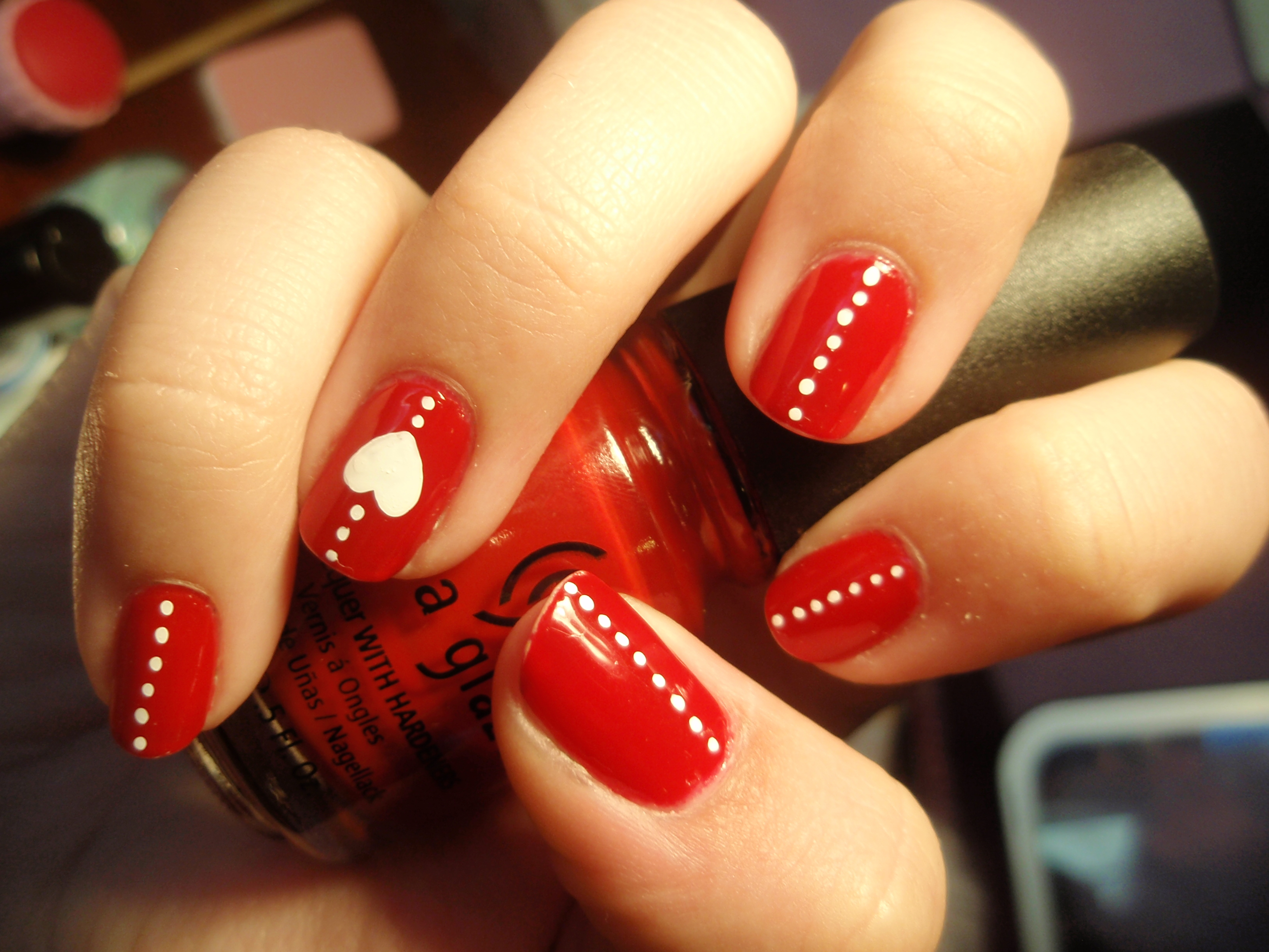 11 Red Nail Polish Designs Images