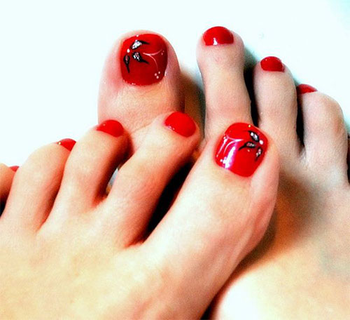 16 Toe Nail Designs For Beginners Images
