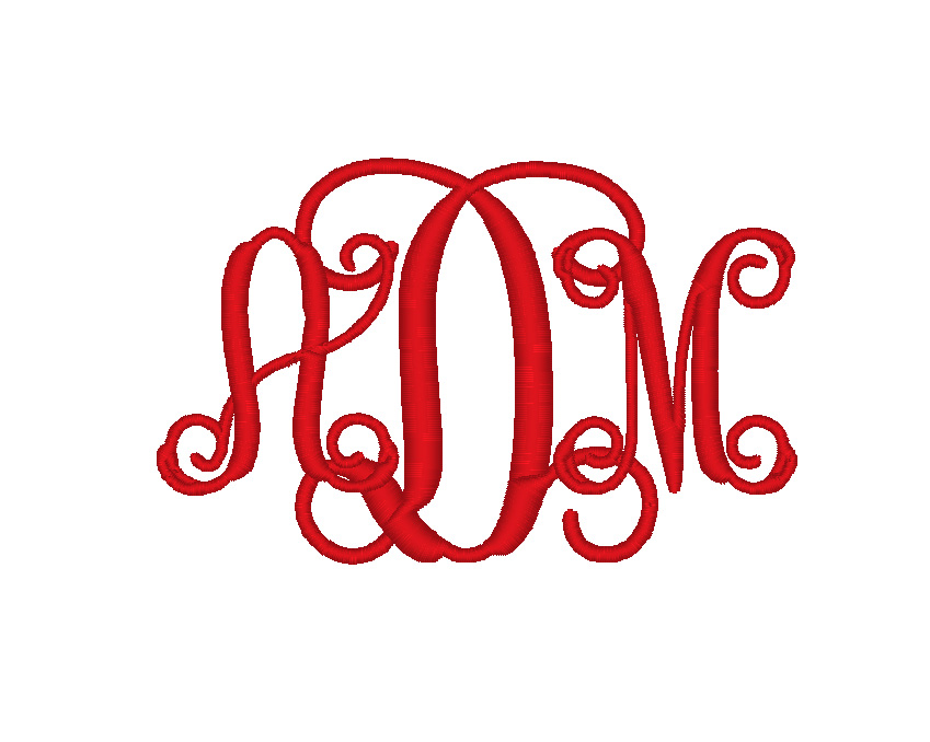 Split Letter Monogram Fonts