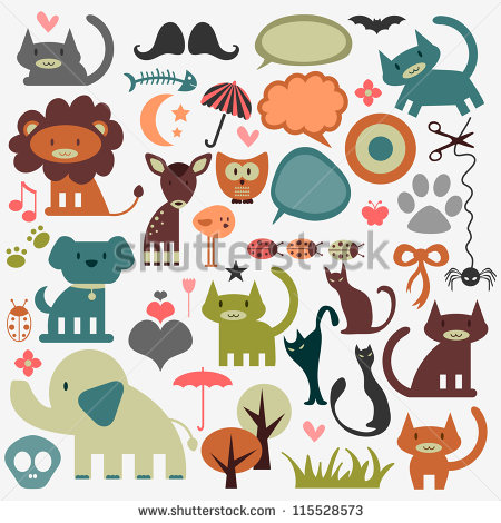 Stock Vector Cute Animals