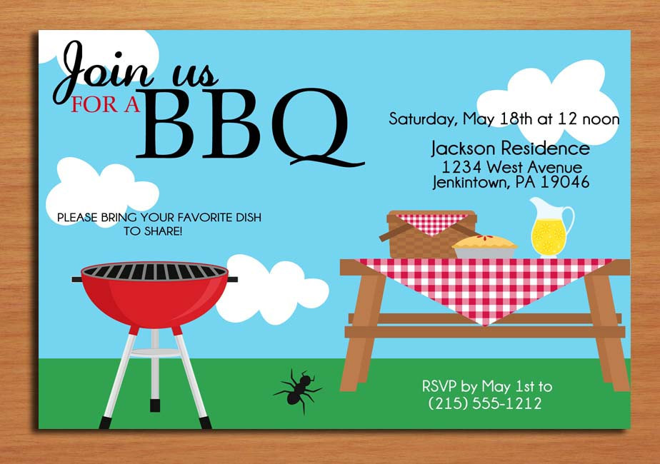 15 BBQ Invitations Free Printable Template Images