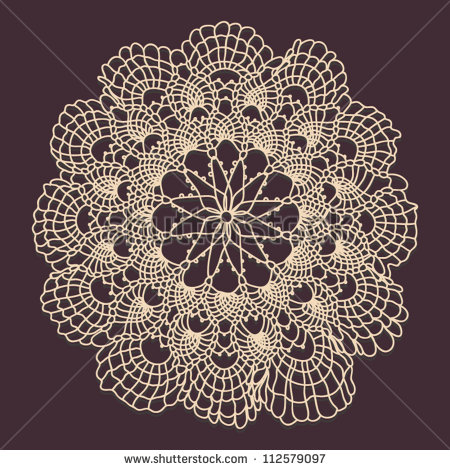 17 Vintage Doily Vector Images