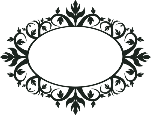 Vector Oval Frames Clip Art