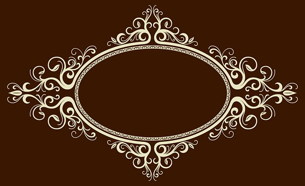 Vector Oval Ornate Frames