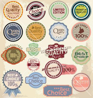 Vintage Label Banner Vectors