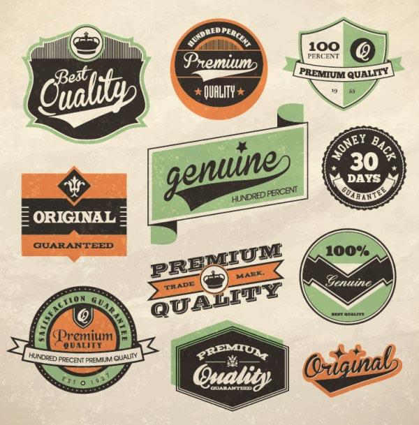 Vintage Retro Labels Vector