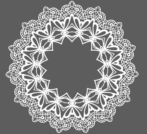 White Lace Pattern Vector Free