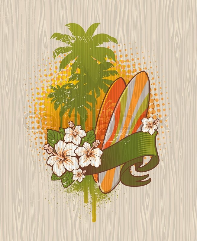 9 Vector Tropical Surfing Images