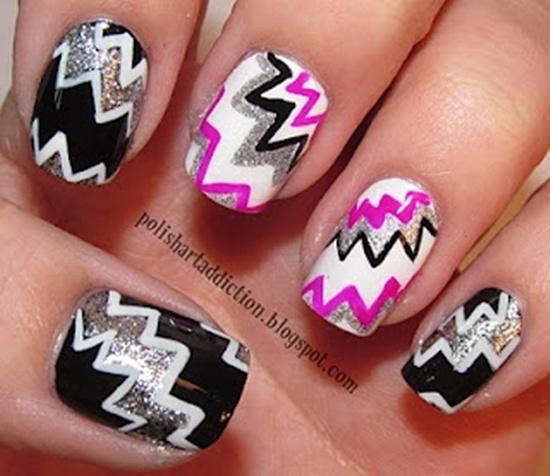 Zig Zag Nails