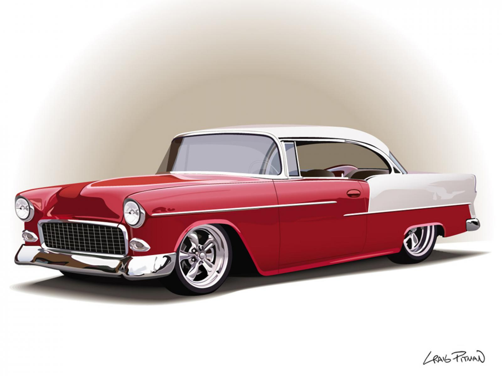 55 Chevy Old Classic Antique Car