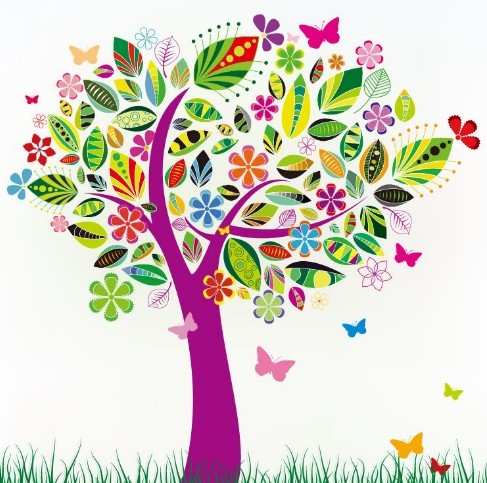 19 Flower Tree Vector Images