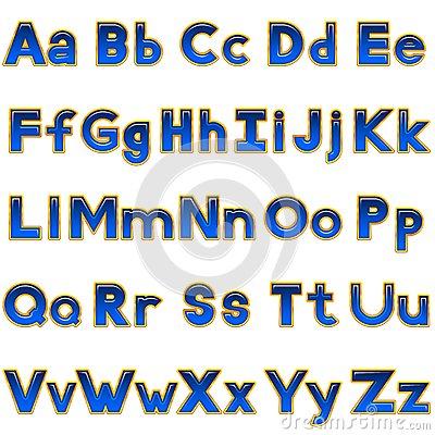 Alphabet Computer Letters