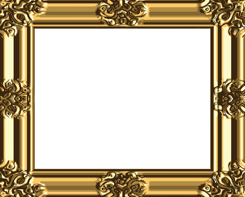 Antique Gold Frame Border