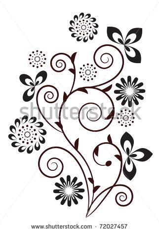 Art Clip Floral Swirl Design