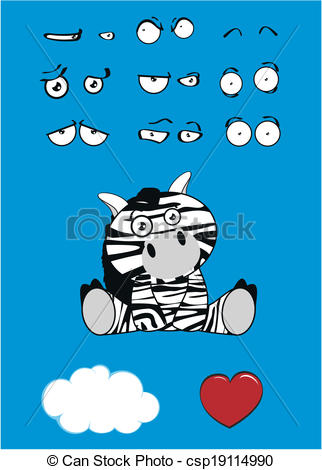 Baby Zebra Cartoon