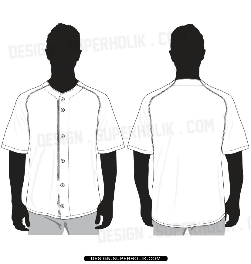 Baseball Jersey Shirt Template