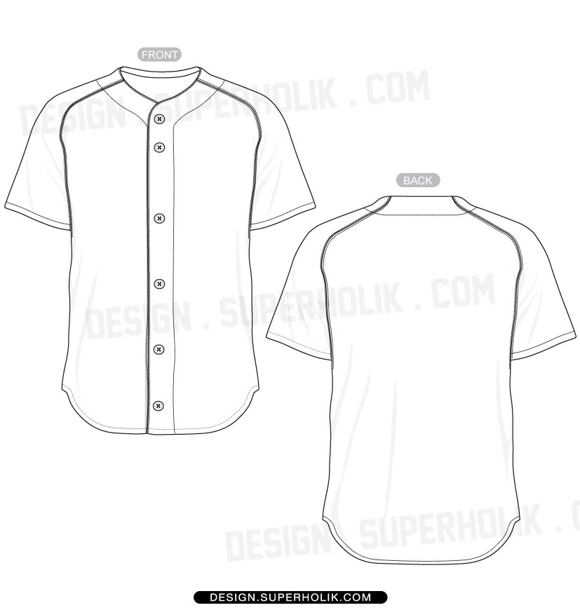 13 Baseball Uniform Template Vector Images
