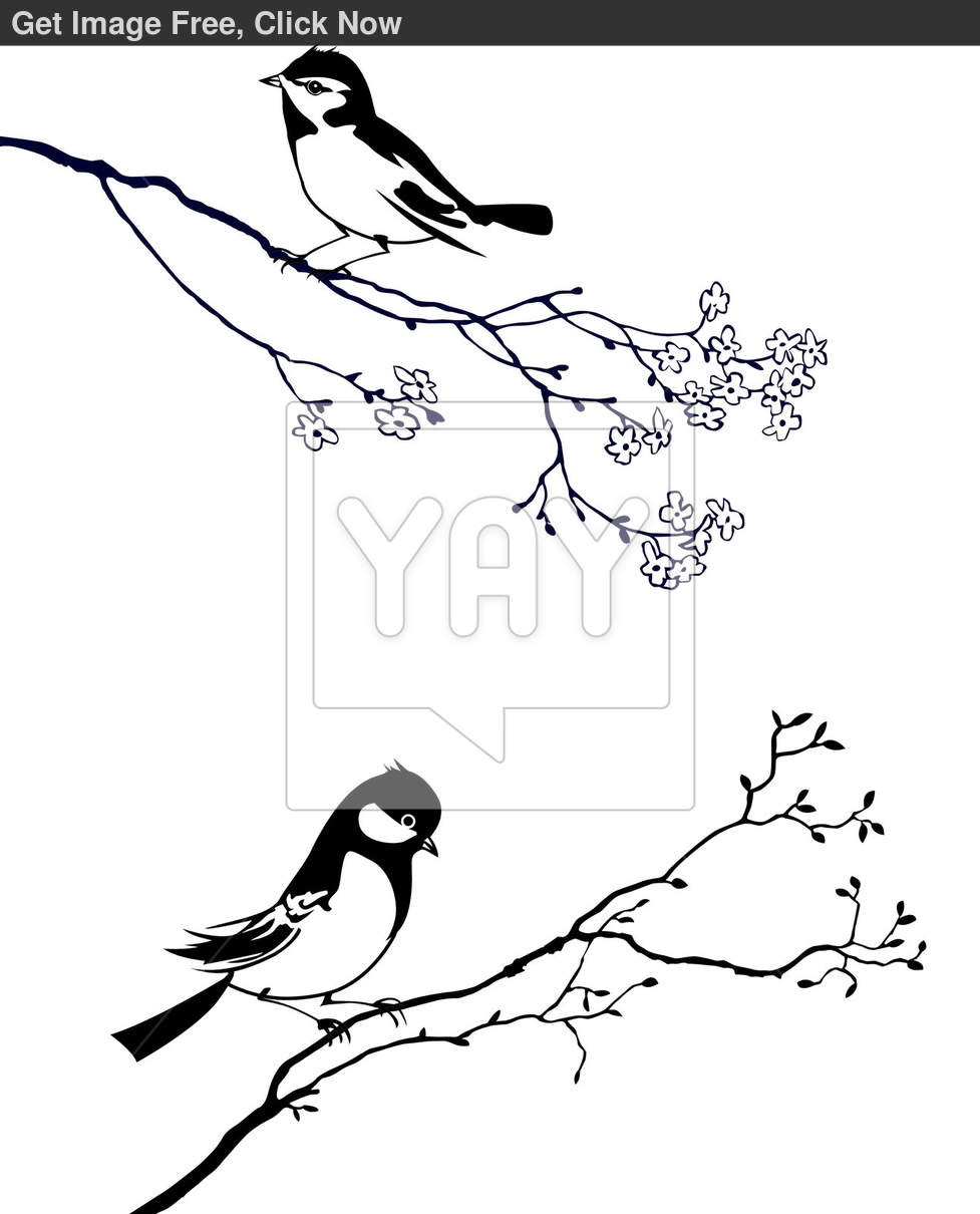 15 Crow Silhouette Vector Tree Branch Images - Tree Branch ...